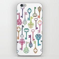 Rainbow Keys on White iPhone & iPod Skin