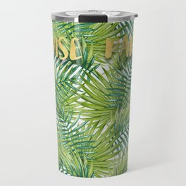 Paradise in Hawaiian Palm Tree Leaves Travel Mug