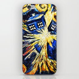 Tardis By Van Gogh - Doctor Who iPhone Skin
