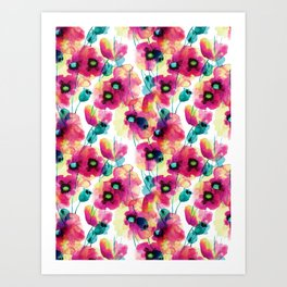 happy floral Art Print