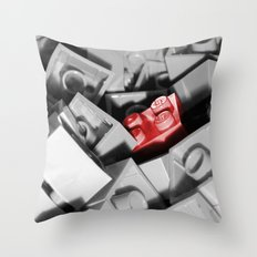 Red Brick Throw Pillow