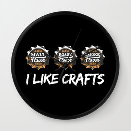 I Like Crafts   Beer Brewer Brewery Wall Clock