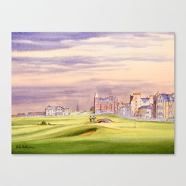 St Andrews Golf Course Scotland 17th Green Canvas Print