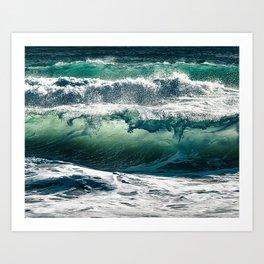 Wild waves Art Print
