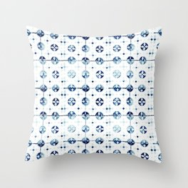 Azulejo I - Portuguese hand painted tiles Throw Pillow