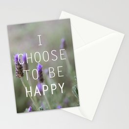 I choose to be happy Stationery Cards