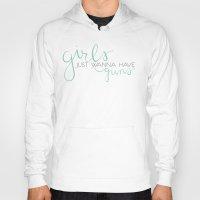 guns Hoodies featuring Girls & Guns by Niki Addie Creative Design Co.