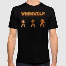 Unleash the beast- werewolf tribute MEDIUM Black Mens Fitted Tee