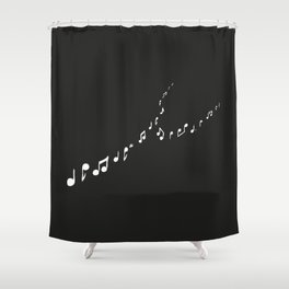 sounds of the night Shower Curtain
