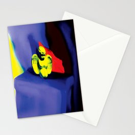 Lamentation in Blue, Yellow, and Orange Stationery Cards