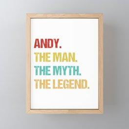 Mens Andy Name Gift design Framed Mini Art Print