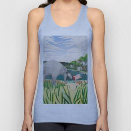BORN ON THE WETLANDS Unisex Tank Top