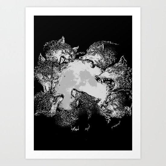 Moon Eaters Art Print