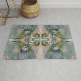 Abstract Space Blossom Rug