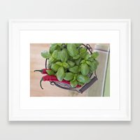 spice Framed Art Prints featuring Spice by Skye Cascadea