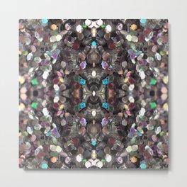 Macro Glitter Metal Print