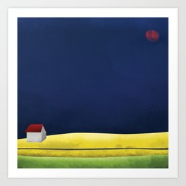 Simple Housing | A night in the life Art Print