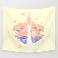 paradise Wall Tapestries featuring Paradise by Andrew Henry