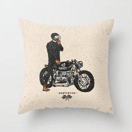 Caferacer Gentleman Throw Pillow