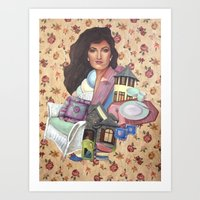 charmaine olivia Art Prints featuring Olivia by Mel Coleman
