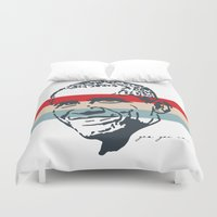 obama Duvet Covers featuring Obama Stripes by Cushy Diplomacy
