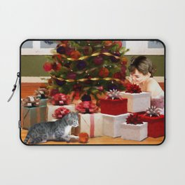 NIGHT BEFORE CHRISTMAS - Christmas Tree and Presents Laptop Sleeve