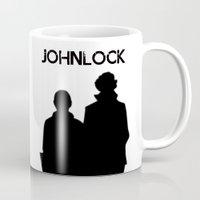johnlock Mugs featuring Johnlock by lori