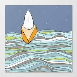 Night Sailing on Casco Bay Canvas Print