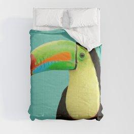 Toucan Bird - Blue Comforters