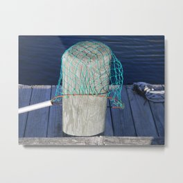 Net and Piling Metal Print
