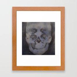 4i skull stencil art - gray Framed Art Print
