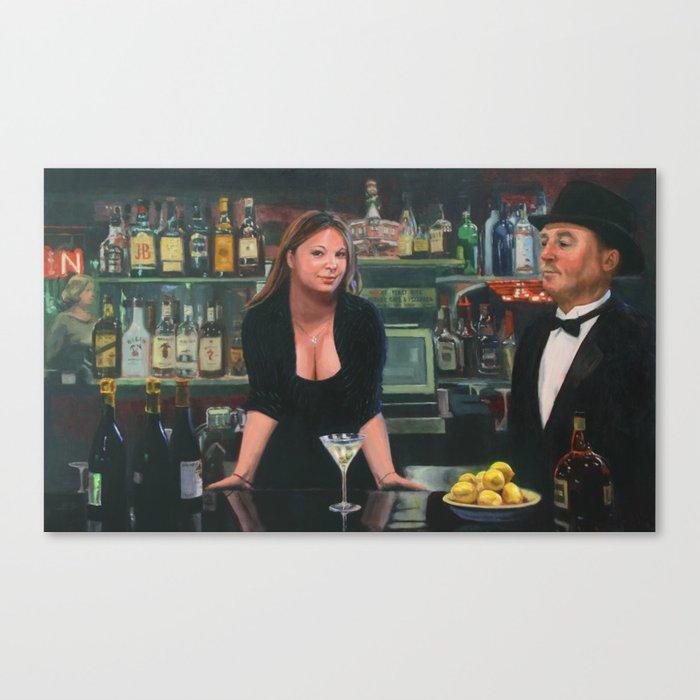 Bar at the Corner Cafe Canvas Print