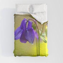 Purple Columbine In Spring Mood #decor #society6 #buyart Comforters