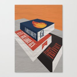 Fahrenheit 451 - Truffaut - Minimal Movie Poster Canvas Print