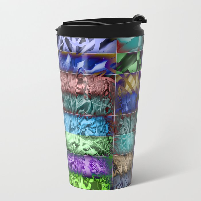 chaos ordered in boxes Metal Travel Mug