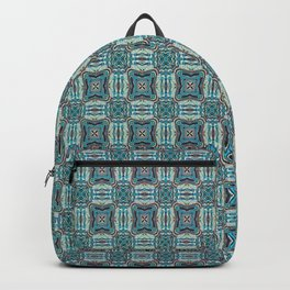 Turquoise Weave Pattern Backpack