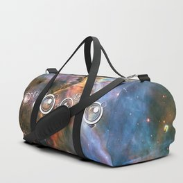Doctor Who Timey-Wimey with the Carina Nebula Duffle Bag