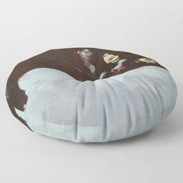 Black Cat Etude II Floor Pillow