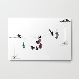 Life on a Wire! Metal Print
