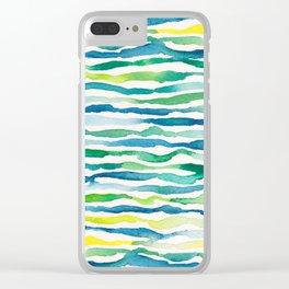 Ocean Zebra Chevron Clear iPhone Case
