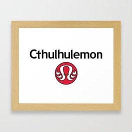 Cthulhulemon Parody Framed Art Print