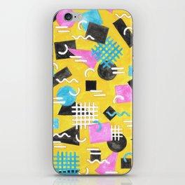 Watercolour Geometric Memphis - Yellow iPhone Skin