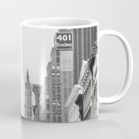 broadway Mugs featuring Broadway - NY by Basma Gallery