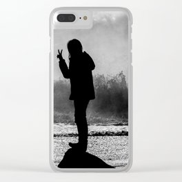 Peace. Clear iPhone Case