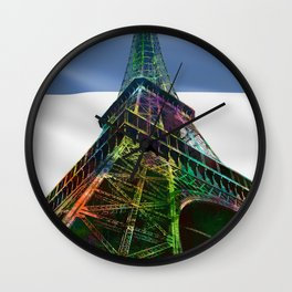The Eiffel Tower and French Flag,  Wall Clock
