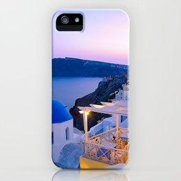 Santorini Sunset II iPhone Case