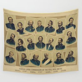 Famous Union Commanders of the Civil War 1861-65 Wall Tapestry