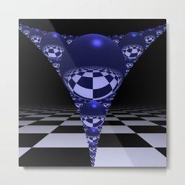Apollonian gasket - blue Metal Print