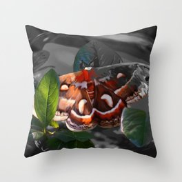 """""""As Daylight Ends"""" - Cecropia Moth Painting Throw Pillow"""