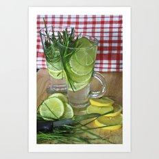 Lemon Grass Drink Art Print